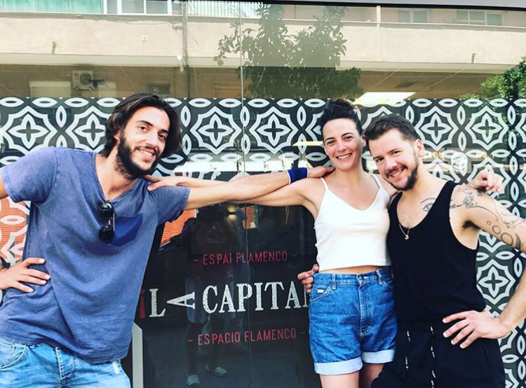 "Los bailaores Jose Manuel Álvarez, Lucía ""La Piñona"" y José Maldonado en La Capitana"