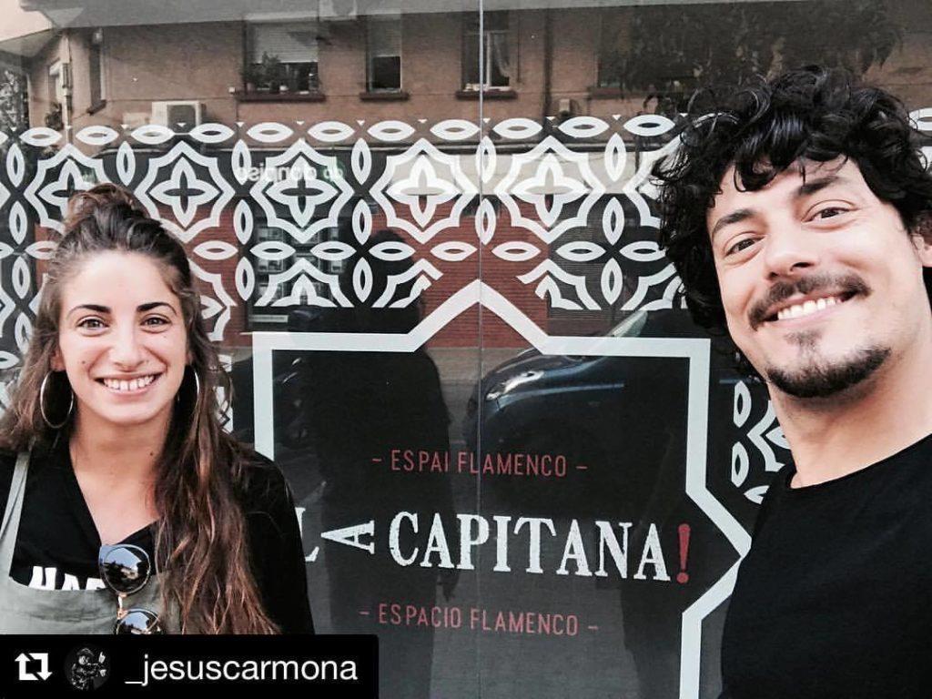 El bailaor Jesús Carmona y la bailaora Águeda Saavedra en La Capitana